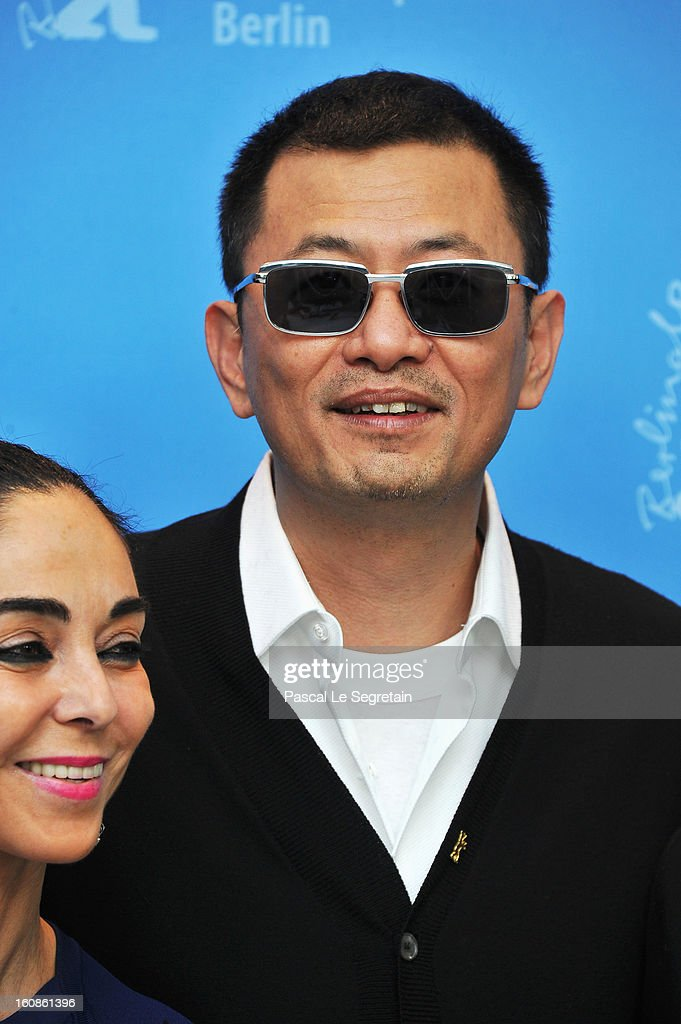 Jury member <a gi-track='captionPersonalityLinkClicked' href=/galleries/search?phrase=Shirin+Neshat&family=editorial&specificpeople=3200877 ng-click='$event.stopPropagation()'>Shirin Neshat</a> and Jury President Wong Kar Wai attend the International Jury Photocall during the 63rd Berlinale International Film Festival at the Grand Hyatt on February 7, 2013 in Berlin, Germany.
