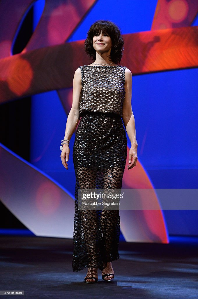 Jury member <a gi-track='captionPersonalityLinkClicked' href=/galleries/search?phrase=Sophie+Marceau&family=editorial&specificpeople=220531 ng-click='$event.stopPropagation()'>Sophie Marceau</a> on stage during the Opening Ceremony of the 68th annual Cannes Film Festival on May 13, 2015 in Cannes, France.