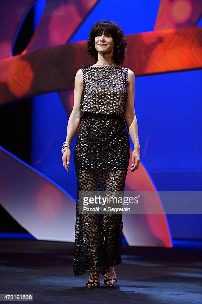 Jury member Sophie Marceau on stage during the Opening Ceremony of the 68th annual Cannes Film Festival on May 13 2015 in Cannes France