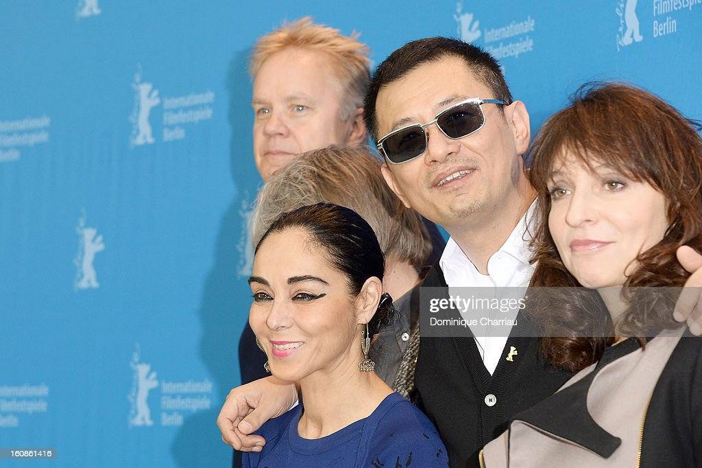 Jury member <a gi-track='captionPersonalityLinkClicked' href=/galleries/search?phrase=Tim+Robbins&family=editorial&specificpeople=182439 ng-click='$event.stopPropagation()'>Tim Robbins</a>, <a gi-track='captionPersonalityLinkClicked' href=/galleries/search?phrase=Shirin+Neshat&family=editorial&specificpeople=3200877 ng-click='$event.stopPropagation()'>Shirin Neshat</a>, Jury President Wong Kar Wai and <a gi-track='captionPersonalityLinkClicked' href=/galleries/search?phrase=Susanne+Bier&family=editorial&specificpeople=240199 ng-click='$event.stopPropagation()'>Susanne Bier</a> attend the International Jury Photocall during the 63rd Berlinale International Film Festival at the Grand Hyatt on February 7, 2013 in Berlin, Germany.