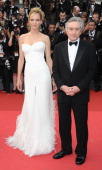 Jury member Uma Thurman and President of the Jury Robert De Niro attend the Opening Ceremony and 'Midnight In Paris' Premiere at the Palais des...