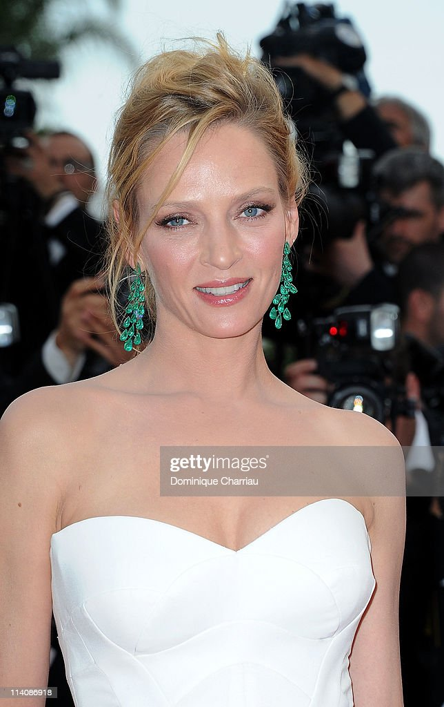 Jury member Uma Thurman attends the Opening Ceremony and 'Midnight In Paris' Premiere at the Palais des Festivals during the 64th Cannes Film Festival on May 11, 2011 in Cannes, France.