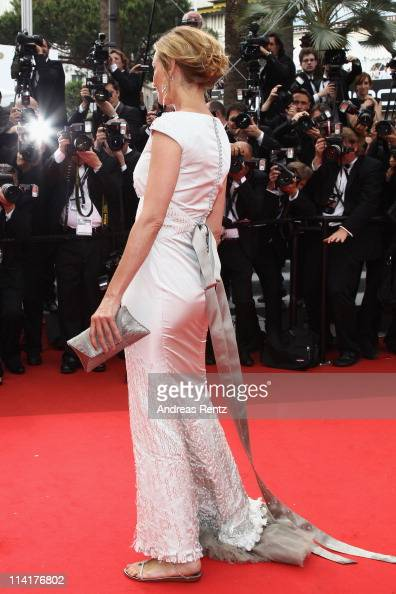 Jury Member Uma Thurman attends the 'Pirates of the Caribbean On Stranger Tides' premiere at the Palais des Festivals during the 64th Cannes Film...