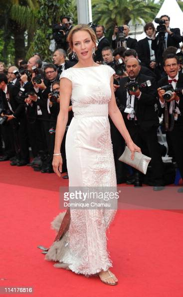 Jury member Uma Thurman attends the 'Pirates of the Caribbean On Stranger Tides' Premiere during the 64th Annual Cannes Film Festival at Palais des...