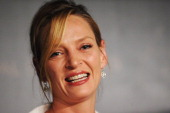 Jury Member Uma Thurman onstage during the Jury press conference at the Palais des Festivals on May 11 2011 in Cannes France