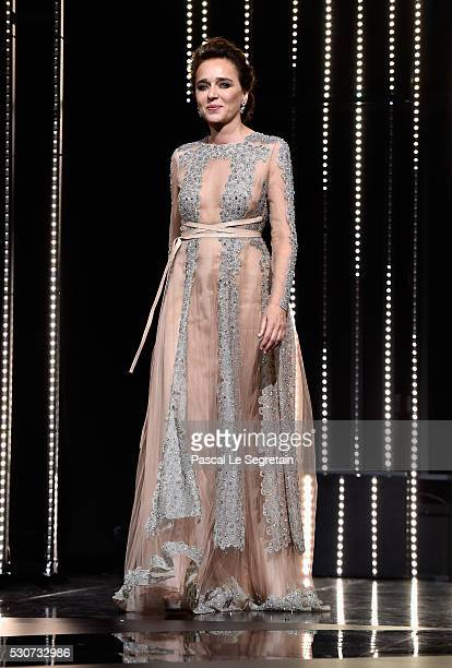 Jury Member Valeria Golino attends the Opening Gala Ceremony during The 69th Annual Cannes Film Festival on May 11 2016 in Cannes France