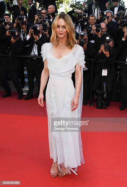Jury member Vanessa Paradis attend 'The Last Face' Premiere during the 69th annual Cannes Film Festival at the Palais des Festivals on May 20 2016 in...