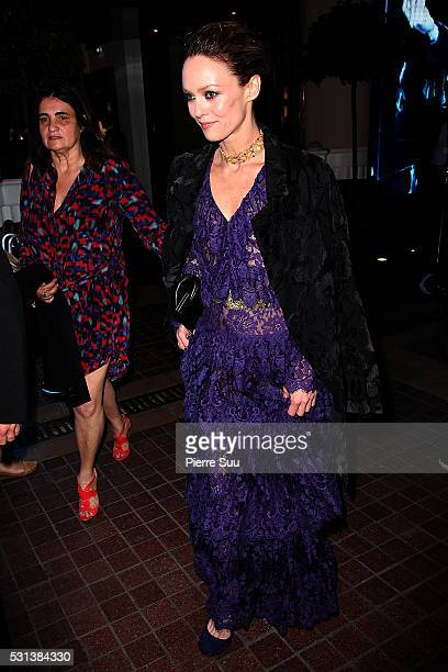 Jury Member Vanessa Paradis leaves the Majestic Hotel to attend a dinner at The Palais Des Festivals during the 69th Annual Cannes Film festival on...