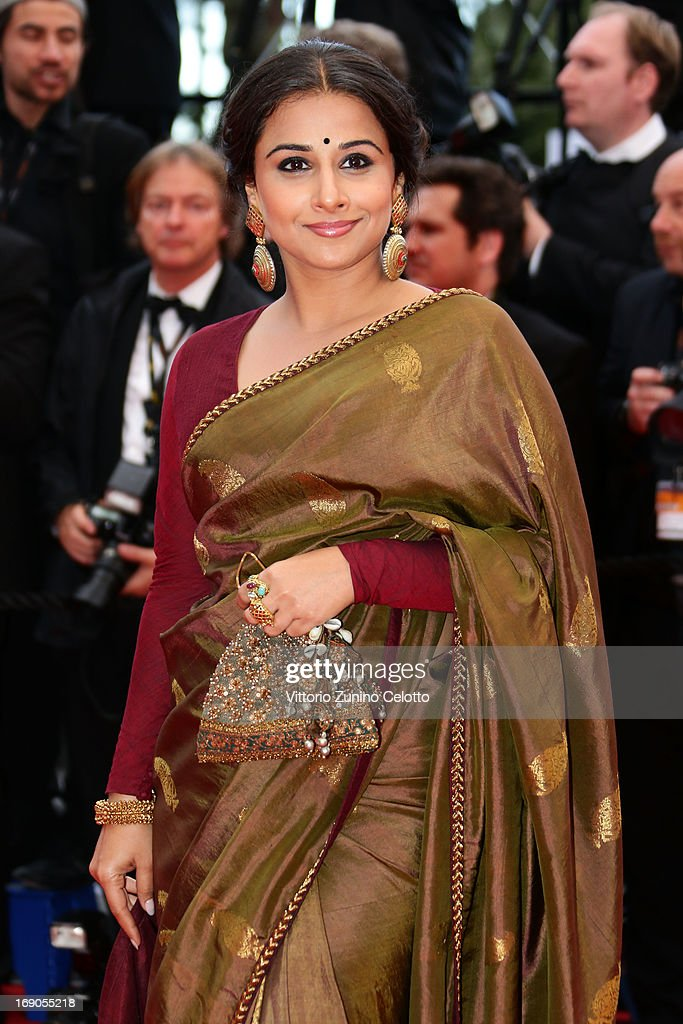 Jury Member Vidya Balan attends the 'Bombay Talkies' Premiere at Palais des Festivals during The 66th Annual Cannes Film Festival on May 19 2013 in...