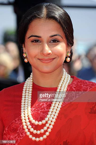 Jury member Vidya Balan attends the premiere for 'Un Chateau en Italie' during the 66th Annual Cannes Film Festival at Palais des Festivals on May 20...