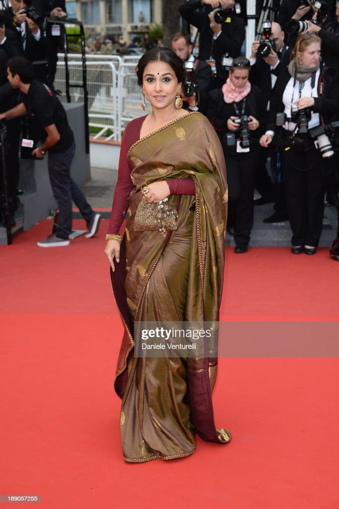 Jury Member <a gi-track='captionPersonalityLinkClicked' href=/galleries/search?phrase=Vidya+Balan&family=editorial&specificpeople=563348 ng-click='$event.stopPropagation()'>Vidya Balan</a> attends the Premiere of 'Inside Llewyn Davis' during the 66th Annual Cannes Film Festival at Palais des Festivals on May 19, 2013 in Cannes, France.