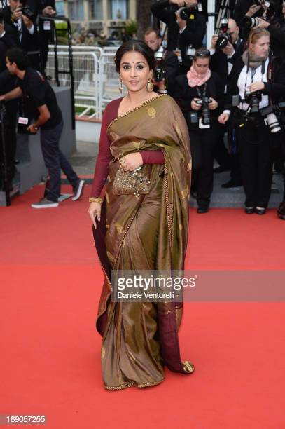 Jury Member Vidya Balan attends the Premiere of 'Inside Llewyn Davis' during the 66th Annual Cannes Film Festival at Palais des Festivals on May 19...