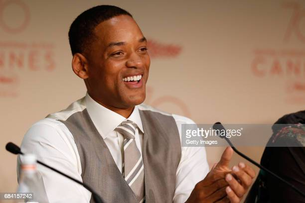 Jury member Will Smith attends the Jury press conference during the 70th annual Cannes Film Festival at Palais des Festivals on May 17 2017 in Cannes...