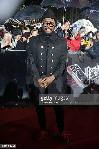 Jury Member WillIAm attends the red carpet launch for The Voice UK at Media City on October 18 2016 in Manchester England