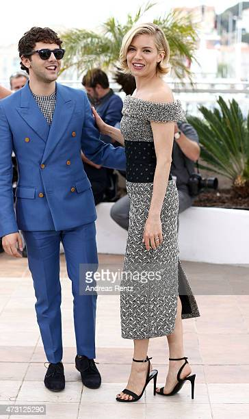 Jury member Xavier Dolan and Sienna Miller attend the Jury photocall during the 68th annual Cannes Film Festival on May 13 2015 in Cannes France