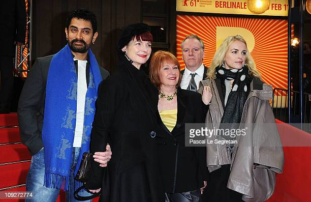 Jury members Aamir Khan Sandy Powell Jan Chapman Guy Maddin and Nina Hoss attend the 'Late Bloomers' Premiere during day nine of the 61st Berlin...