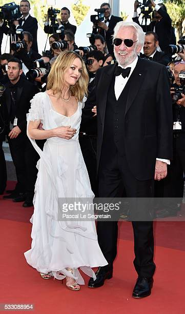 Jury members actor Donald Sutherland and actress Vanessa Paradis attend 'The Last Face' Premiere during the 69th annual Cannes Film Festival at the...