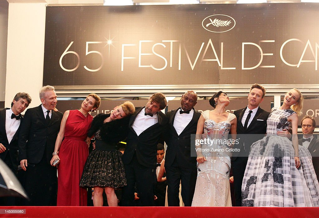Jury members actress Diane Kruger, Ewan McGregor, Hiam Abbass, Raoul Peck, Jury President Nanni Moretti, Andrea Arnold, Emmanuelle Devos, Jean-Paul Gautier and Alexander Payne attends the Closing Ceremony and 'Therese Desqueyroux' premiere during the 65th Annual Cannes Film Festivalon May 27, 2012 in Cannes, France.