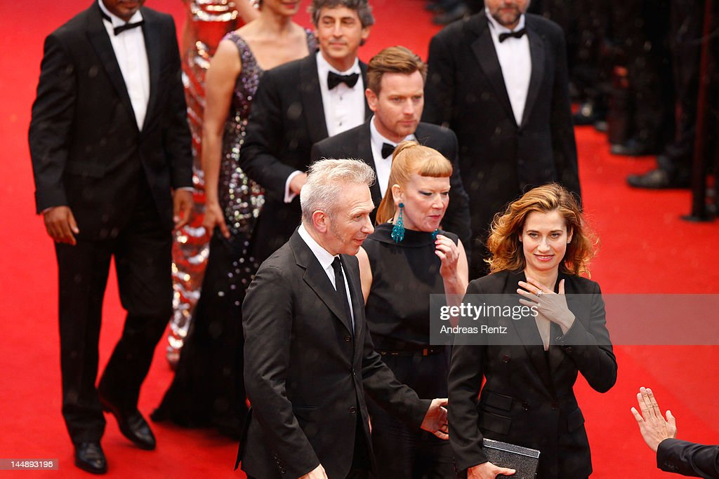 Jury members Alexander Payne, Ewan McGregor, Andrea Arnold, Emmanuelle Devos and Jean Paul Gaultier attends the 'Amour' premiere during the 65th Annual Cannes Film Festival at Palais des Festivals on May 20, 2012 in Cannes, France.