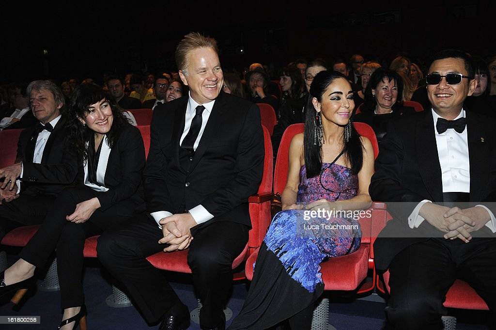 Jury members Andreas Dresen, Athina Rachel Tsangari, Tim Robbins, Shirin Neshat and Wong Kar Wai attend the Closing Ceremony during the 63rd Berlinale International Film Festival at Berlinale Palast on February 14, 2013 in Berlin, Germany.