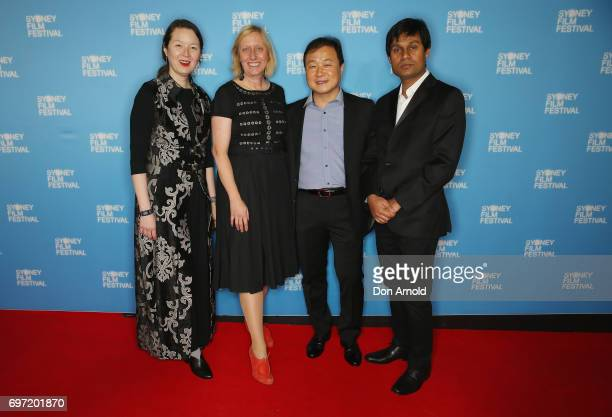 Jury members arrive ahead of the Sydney Film Festival Closing Night Gala and Australian premiere of Okja at State Theatre on June 18 2017 in Sydney...