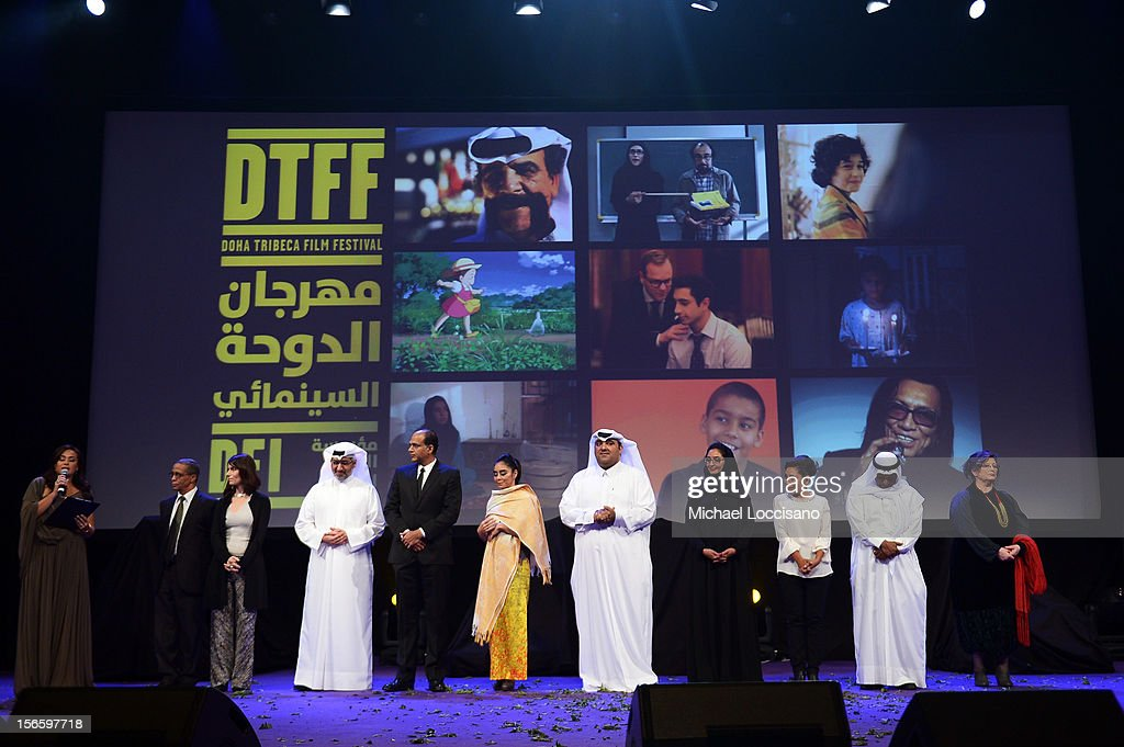 Jury members attends the opening night ceremony and gala screening of 'The Reluctant Fundamentalist' during the 2012 Doha Tribeca Film Festival at Al Mirqab Hotel on November 17, 2012 in Doha, Qatar.