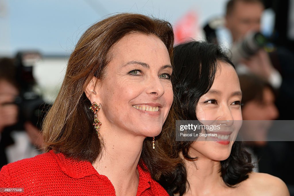 Jury members Carole Bouquet (L) and Do-yeon Jeon attend the red carpet for the Palme D'Or winners at the 67th Annual Cannes Film Festival on May 25, 2014 in Cannes, France.