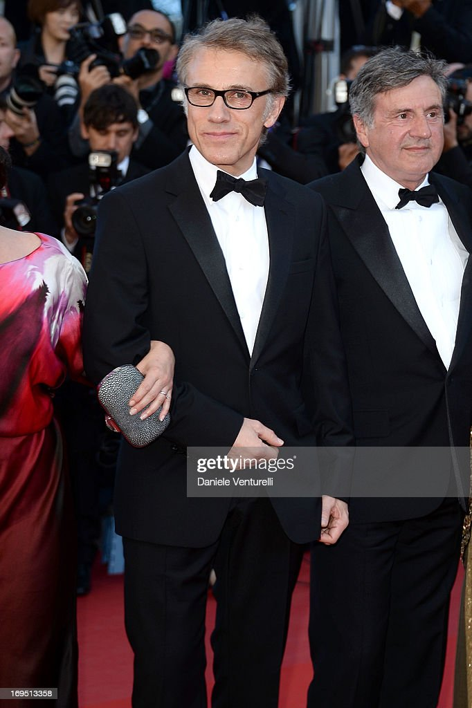 Jury members Christoph Waltz and Daniel Auteuil attend the Premiere of 'Zulu' and the Closing Ceremony of The 66th Annual Cannes Film Festival at Palais des Festivals on May 26, 2013 in Cannes, France.