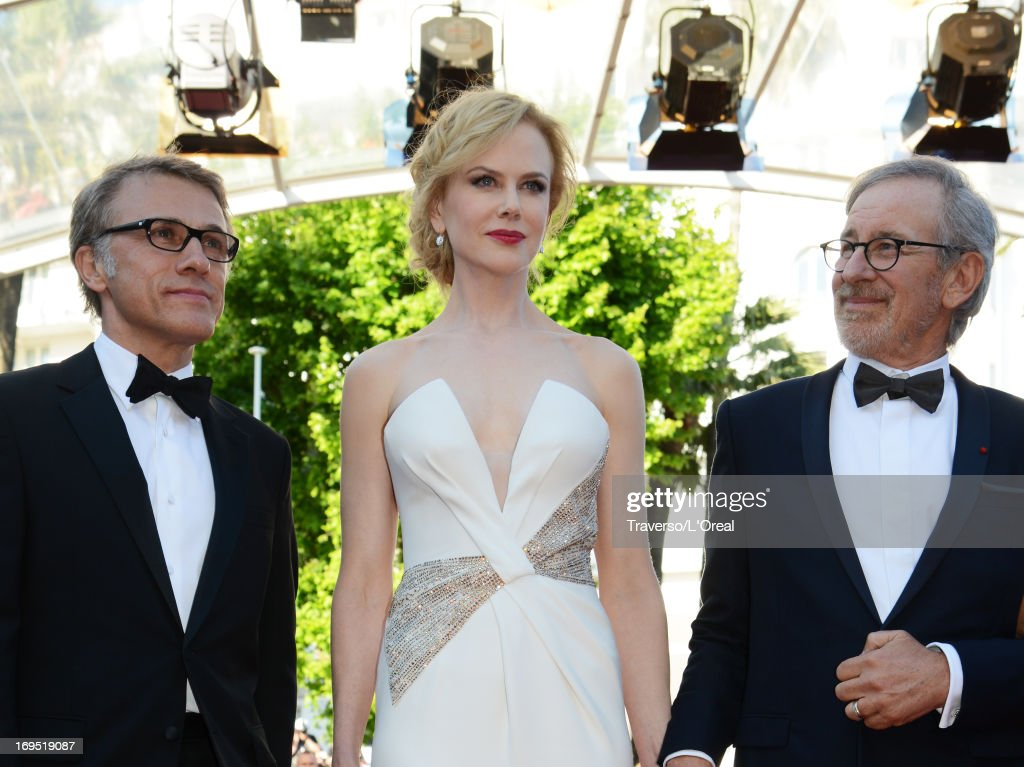 Jury members Christoph Waltz, Nicole Kidman and Steven Spielberg attend the 'Zulu' Premiere and Closing Ceremony during the 66th Annual Cannes Film Festival at the Palais des Festivals on May 26, 2013 in Cannes, France.