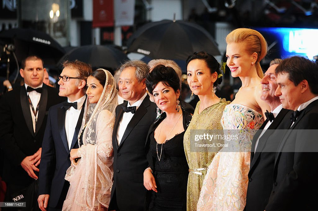 Jury members (L-R) Christoph Waltz, Vidya Balan, Ang Lee, Steven Spielberg, Lynne Ramsay, Naomi Kawase, Nicole Kidman, Daniel Auteui and Cristian Mungiu attend the Opening Ceremony and 'The Great Gatsby' Premiere during the 66th Annual Cannes Film Festival at the Theatre Lumiere on May 15, 2013 in Cannes, France.