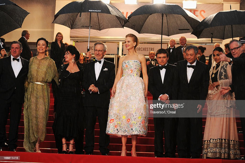 Jury members Daniel Auteuil, Naomi Kawase, Lynne Ramsay, Steven Spielberg, Nicole Kidman, Cristian Mungiu, Ang Lee, Vidya Balan and annes Film Festival artistic director Thierry Fremaux attend the Opening Ceremony and 'The Great Gatsby' Premiere during the 66th Annual Cannes Film Festival at the Theatre Lumiere on May 15, 2013 in Cannes, France.