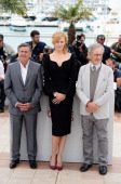 Jury members Daniel Auteuil Nicole Kidman and jury president Steven Spielberg attend the Jury photocall during the 66th Annual Cannes Film Festival...