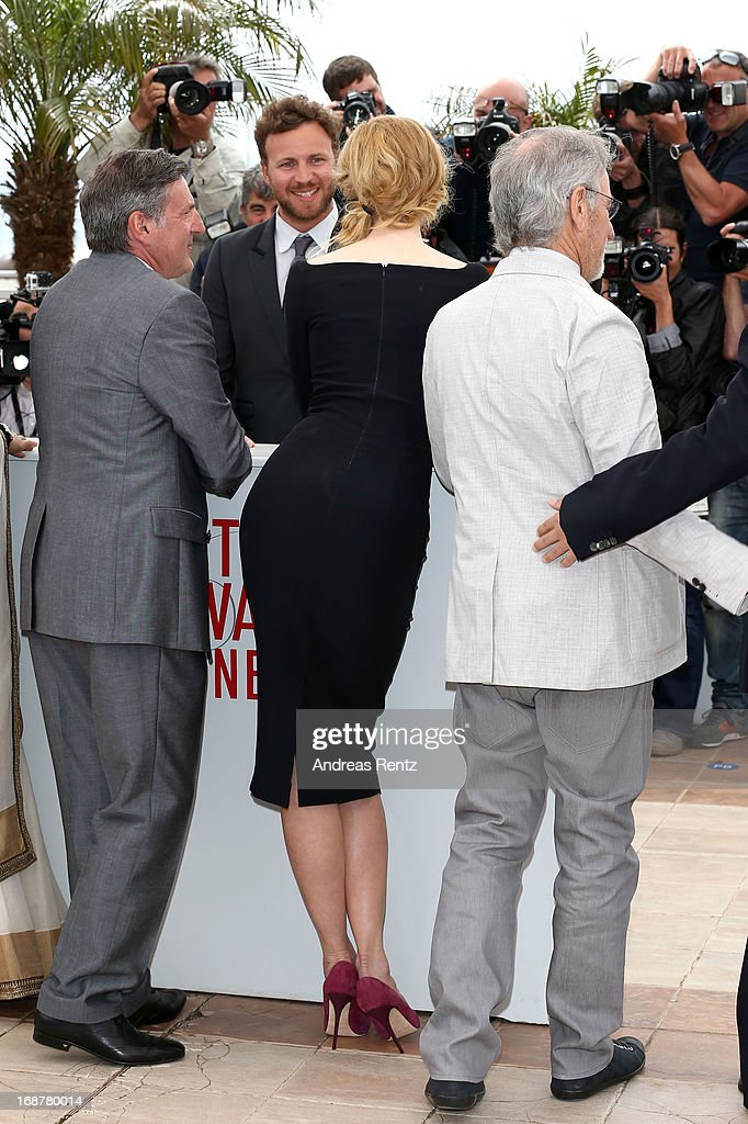 Jury members Daniel Auteuil, Nicole Kidman and Jury President Steven Spielberg attend the Jury Photocall during the 66th Annual Cannes Film Festival at the Palais des Festivals on May 15, 2013 in Cannes, France.
