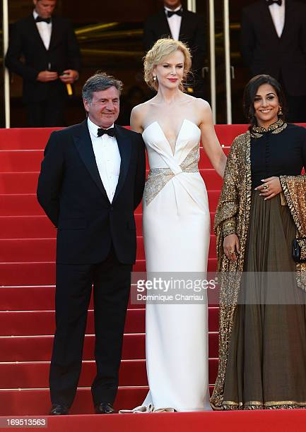 Jury members Daniel Auteuil Nicole Kidman and Vidya Balan attend the Premiere of 'Zulu' and the Closing Ceremony of The 66th Annual Cannes Film...