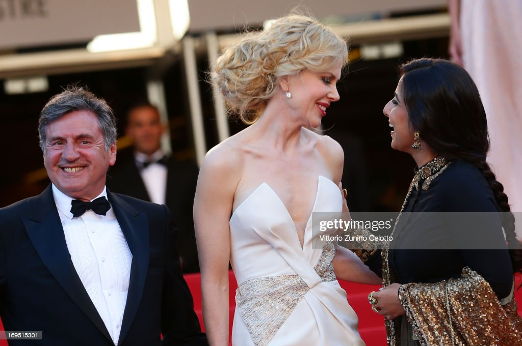 Jury members Daniel Auteuil Nicole Kidman and Vidya Balan attend the 'Zulu' Premiere and Closing Ceremony during the 66th Annual Cannes Film Festival...