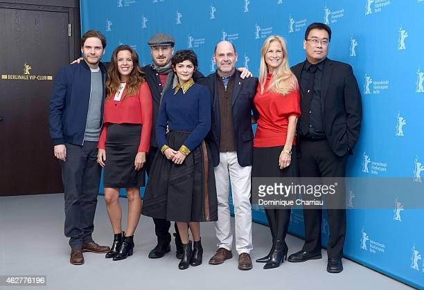 Jury members Daniel Bruehl Claudia Llosa Jury President Darren Aronofsky Audrey Tautou Matthew Weiner Martha De Laurentiis and Bong Joonho attend the...