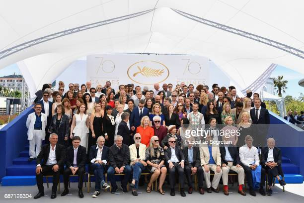 Jury members dignitaries and guests attend the 70th Anniversary Photocall during the 70th annual Cannes Film Festival at Palais des Festivals on May...