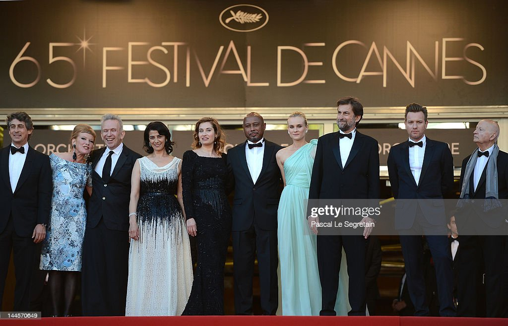 Jury members (L-R) Director <a gi-track='captionPersonalityLinkClicked' href=/galleries/search?phrase=Alexander+Payne&family=editorial&specificpeople=202578 ng-click='$event.stopPropagation()'>Alexander Payne</a>, director <a gi-track='captionPersonalityLinkClicked' href=/galleries/search?phrase=Andrea+Arnold&family=editorial&specificpeople=606927 ng-click='$event.stopPropagation()'>Andrea Arnold</a> , fashion designer Jean-Paul Gautie, actress <a gi-track='captionPersonalityLinkClicked' href=/galleries/search?phrase=Hiam+Abbass&family=editorial&specificpeople=2376798 ng-click='$event.stopPropagation()'>Hiam Abbass</a>, actress <a gi-track='captionPersonalityLinkClicked' href=/galleries/search?phrase=Emmanuelle+Devos&family=editorial&specificpeople=220367 ng-click='$event.stopPropagation()'>Emmanuelle Devos</a>, director <a gi-track='captionPersonalityLinkClicked' href=/galleries/search?phrase=Raoul+Peck&family=editorial&specificpeople=243046 ng-click='$event.stopPropagation()'>Raoul Peck</a>, actress <a gi-track='captionPersonalityLinkClicked' href=/galleries/search?phrase=Diane+Kruger&family=editorial&specificpeople=202640 ng-click='$event.stopPropagation()'>Diane Kruger</a>, President of the Jury Director <a gi-track='captionPersonalityLinkClicked' href=/galleries/search?phrase=Nanni+Moretti&family=editorial&specificpeople=621165 ng-click='$event.stopPropagation()'>Nanni Moretti</a>, actor <a gi-track='captionPersonalityLinkClicked' href=/galleries/search?phrase=Ewan+McGregor&family=editorial&specificpeople=202863 ng-click='$event.stopPropagation()'>Ewan McGregor</a> and President of the Cannes Film Festival <a gi-track='captionPersonalityLinkClicked' href=/galleries/search?phrase=Gilles+Jacob&family=editorial&specificpeople=212799 ng-click='$event.stopPropagation()'>Gilles Jacob</a> attends opening ceremony and 'Moonrise Kingdom' premiere during the 65th Annual Cannes Film Festival at Palais des Festivals on May 16, 2012 in Cannes, France.