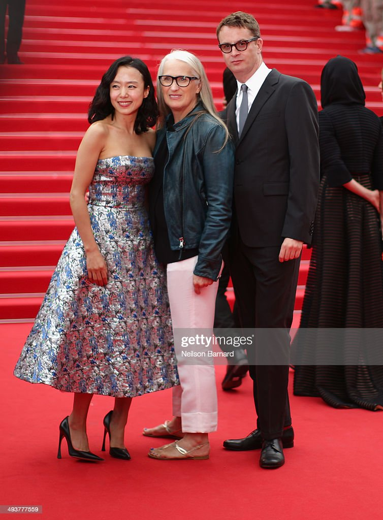 Jury members Do-yeon Jeon, Jane Campion and Nicolas Winding Refn attend the red carpet for the Palme D'Or winners at the 67th Annual Cannes Film Festival on May 25, 2014 in Cannes, France.