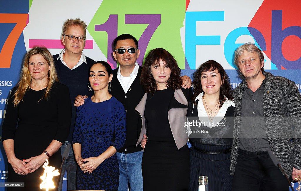 Jury members Ellen Kuras Tim Robbins Shirin Neshat Jury President Wong Kar Wai and Jury members Susanne Bier Athina Rachel Tsangari and Andreas...