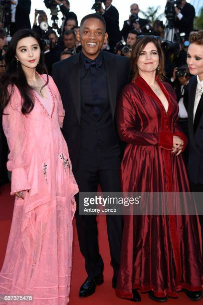 Jury members Fan Bingbing Will Smith Agnes Jaoui and Maren Ade attend the 70th Anniversary of the 70th annual Cannes Film Festival at Palais des...