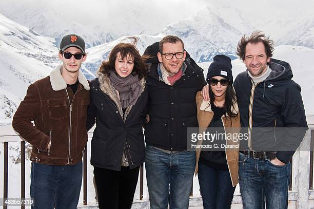 Jury members French actors Pierre Niney Valerie Bonneton Dany Boon Leila Bekhti and Stephane De Groodt attend the Jury Photocall as part of the 17th...
