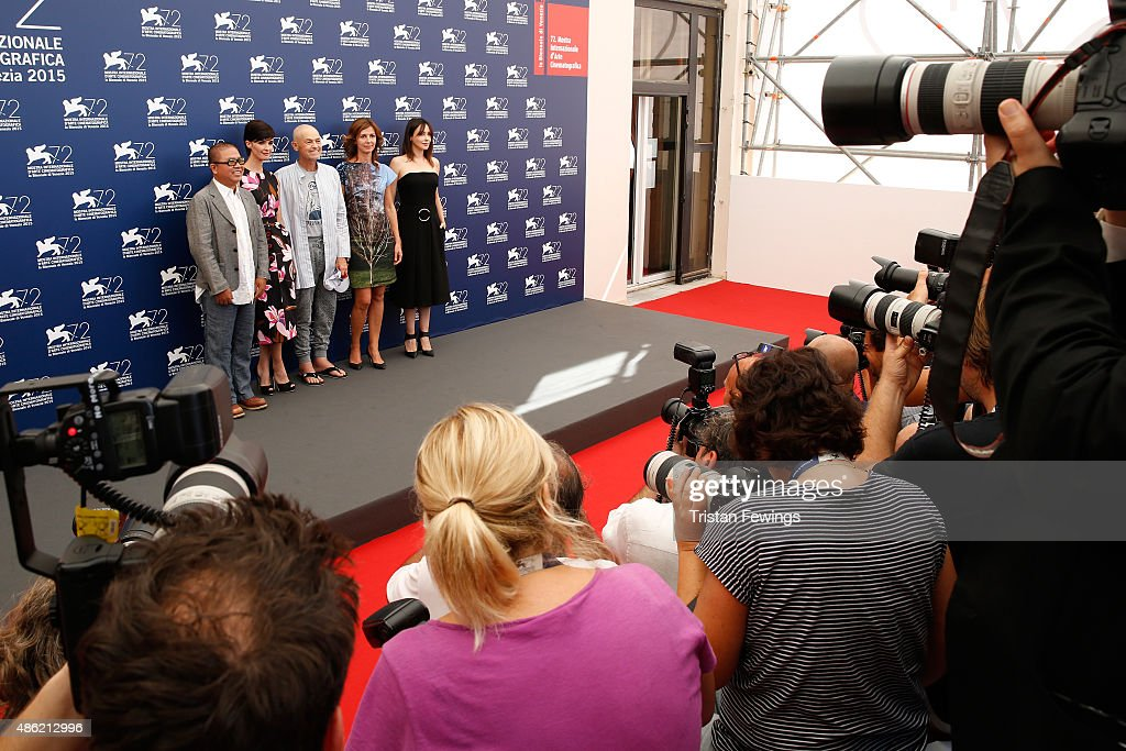 V Jury members Fruit Chan Paz Vega President Jonathan Demme Alix Delaporte and Anita Caprioli attend the Orizzonti Jury Photocall during the 72nd...