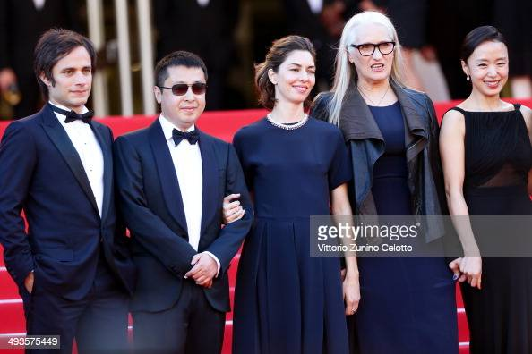 Jury members Gael Garcia Bernal Zhangke Jia Sofia Coppola Jury President Jane Campion and jury member Doyeon Jeon attend the Closing Ceremony and 'A...