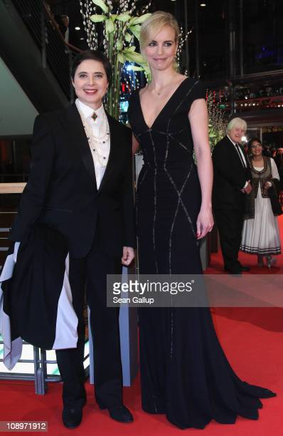 Jury members Isabella Rossellini and Nina Hoss attend the 'True Grit' Premiere during the opening day of the 61st Berlin International Film Festival...