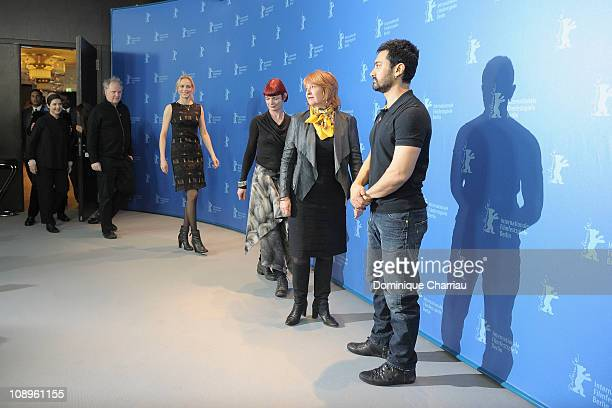 Jury members Isabella Rossellini Guy Maddin Nina Hoss Sandy Powell Jan Chapman and Aamir Khan attend the International Jury Photocall during day one...