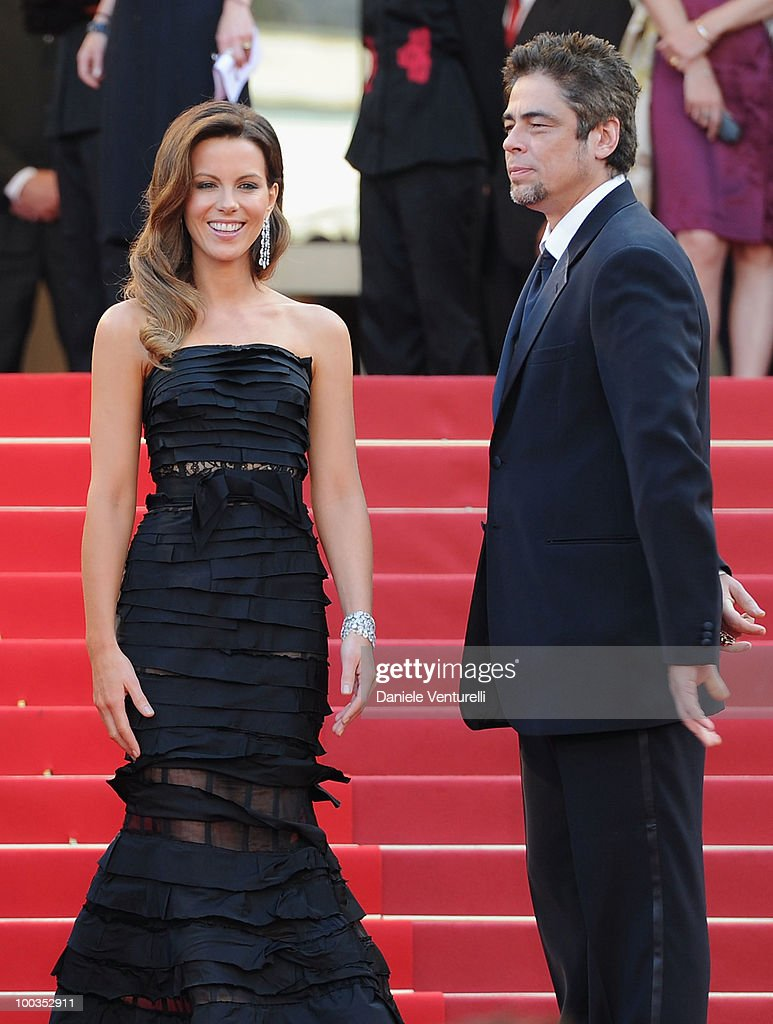 Jury members Kate Beckinsale and Benicio Del Toro attends the Palme d'Or Closing Ceremony held at the Palais des Festivals during the 63rd Annual International Cannes Film Festival on May 23, 2010 in Cannes, France.