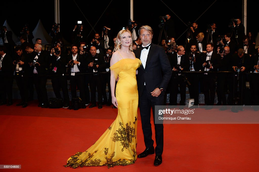 Jury members Kirsten Dunst and Mads Mikkelsen attend 'The Neon Demon' Premiere during the 69th annual Cannes Film Festival at the Palais des...