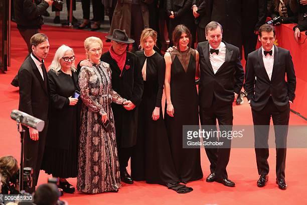 Jury members Lars Eidinger Brigitte Lacombe Meryl Streep Alba Rohrwacher Malgorzata Szumowska Nick James Clive Owen and Festival director Dieter...