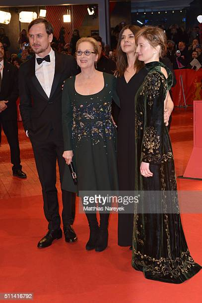Jury members Lars Eidinger Meryl Streep Malgorzata Szumowska and Alba Rohrwacher attend the closing ceremony of the 66th Berlinale International Film...